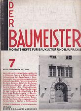 DER BAUMEISTER July 1938 Bauhaus era Design Architecture and Interiors 1930s