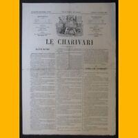 Journal LE CHARIVARI dessin de Stop 7 février 1874