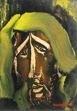 GIANDANTE X (Pescò Milano 1899-1984) VOLTO encausto su cartone cm35x50 anno 1966
