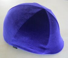 Horse Helmet Cover Lush PURPLE  Velvet AUSTRALIAN MADE Choose your size