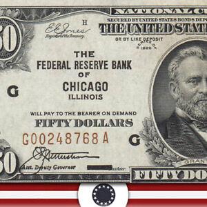 1929 $50 CHICAGO FRBN Fr 1880-G  G00248768A