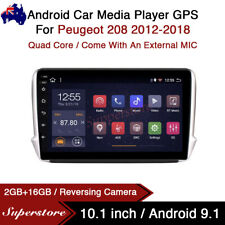 """10.1"""" Android 10.1 Car Stereo non dvd Player GPS Head Unit For Peugeot 208 12-18"""