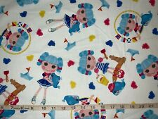 NEW Rare Lalaloopsy Dolls On White 100% Cotton Fabric Sold By FQ(Fat Quarter)