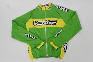 Verge Kid's XL Classic Race Long Sleeve Fleece Cycling Jersey Green/Yellow