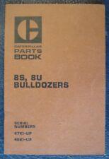 Caterpillar 8S Bulldozer 8U elenco parti di ricambio LIBRO 1969