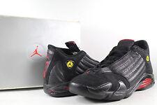 1998 OG Nike Air Jordan XIV 14 Last Shot Black Varsity Red Size 11.5
