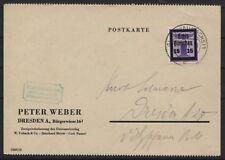 Lokal Glauchau 24 auf portogerechter Postkarte ohne Text (B07284)