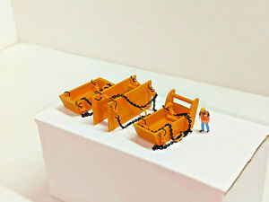 1/87th Scale Trench Bedding & Yard Box (All Metal) Authentic Old Cat Yellow.
