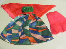 1970's Vintage Barbie Rainbow Wraps #1798 Dress Slip Shawl