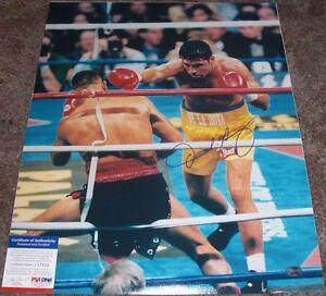 GOLDEN BOY!!! Oscar de la Hoya Signed CLASSIC Boxing 16x20 Photo PSA/DNA