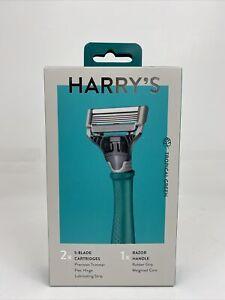 Harry's Men's Razor with 2 Razor Blades - Tropical Green NEW SEALED