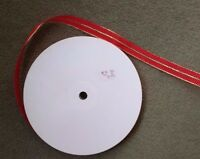 RED & GOLD RIBBON - Large 100 metre Long Roll x 24mm Wide - Christmas Decoration
