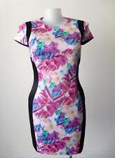 NICOLA FINETTI  rrp $229.00 Size 14 - 16 Short Sleeve Floral Bodycon Dress