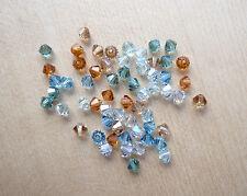 60 Swarovski® Kristall Perlen Xilion Beads/Bicone 4mm SOMMERMIX 8