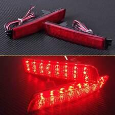 2x Rear Tail Brake Light LED Bumper Reflector Red fit for Nissan Juke Infiniti