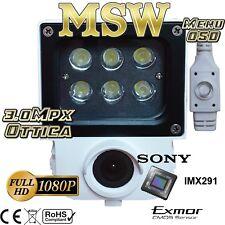 Telecamera Lettura Targa AHD 6mm Sony IMX Exmor 2MP Ottica 3MP MSW-BL291X-CAR