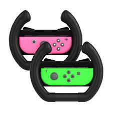 Nintendo Switch TechMatte Joy-Con Steering Wheel Controller (2 Pack, Black)