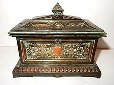 Antique Late 19th Century, French Signed L. Oudry Copper Jewelry Casket