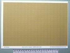 N gauge (1:160 scale) yellow roof tile self adhesive vinyl - A4 sheet(297X210mm)
