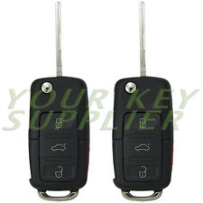 2 - New Remote Flip Key Fob Transmitter Remote Keyless 753T for VW Volkswagen