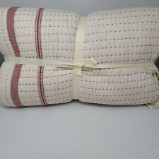 Pottery Barn Nellie Farmhouse Pickstich Tassel Full Queen Quilt  & Sham *Sample*
