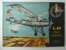 DDR Flugzeug Modell Bogen Kranich L-60 BRIGADYR Deutsche Lufthansa/Interflug