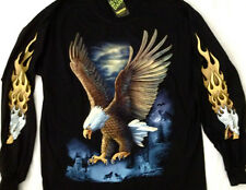 "Eagle T-shirt manches longues shirt ""Glow in the Dark"" 2 côté X Large 46-48 Tee tnls 001"