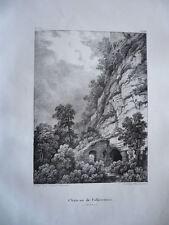 CHATEAU DE FALKENSTEIN  ALSACE GRAVURE ORIGINALE 1870 HAUT RHIN