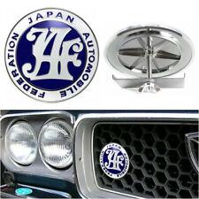 Blue Japan Automobile Federation JAF JDM Car Front Grille Metal Emblem Badge