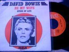 DAVID BOWIE - BE MY WIFE - MEGA RARE DUTCH SINGLE - MINT