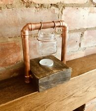 Handmade Wax / Oil Burner, Rustic Industrial Style Decor, Kilner Jar