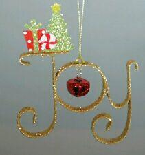 Dorado Campana Puerta Pared Decoración Joy con Purpurina Navidad 12.7cm adorno