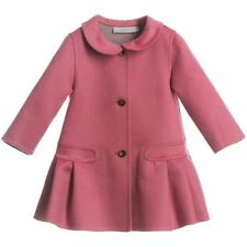BABY DIOR PINK AND TAUPE DOUBLE-SIDED CASHMERE COAT 24 MONTHS