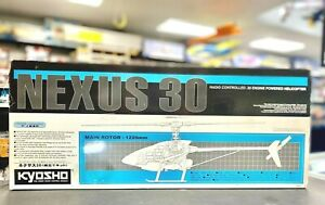 Very Rare Kyosho Nexus 30 Helicopter Kit NEW IN BOX #21506 w/New JR Gyro NICE!!