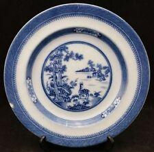 Blue & White Transfer Ware Date-Lined Ceramic Dinner Plates