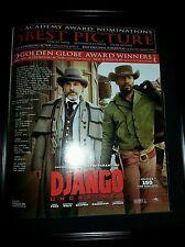 Django Unchained Rare Original Academy Awards Promo Poster Ad Framed!