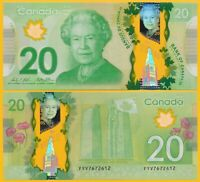 Canada 20 Dollars p-108b 2012 UNC Polymer Banknote