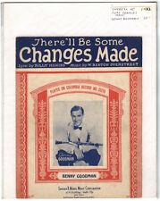 Rare Original Vintage 1932 Benny Goodman Changes Made Piano Sheet Music Print