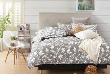 Swanson Beddings Leafy Vines 3-Piece 100 Cotton Bedding Set: Duvet Cover Two