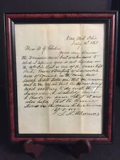ANTIQUE 1867 HANDWRITTEN LETTER ADDRESSED TO OHIO SUPREME COURT WY GHOLSON