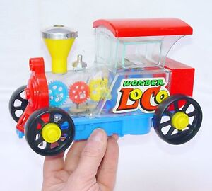 Tomy Japan WONDER LOCOMOTIVE Mystery Action Table Train Battery Operated NM`76!
