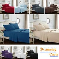 Egyptian Comfort 1800 Count 4 Piece Bed Sheet Set Deep Pocket Bed Sheets Set 6H