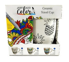 Just Add Color Cup O' Joe Cup, Pineapples - 4 Food Safe Markers Included