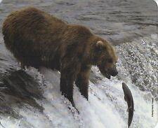 Mauspad Edition Colibri: Grizzly - Bär beim Lachsfang, Kanada