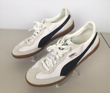 Mens Size 11.5 Puma Super Liga White and Black Sneakers