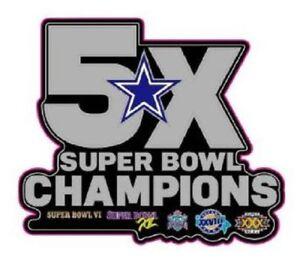 DALLAS COWBOYS CHAMPIONS PIN SUPERBOWL 5X CHAMPS PIN 2017-18 NFL SUPER BOWL 52