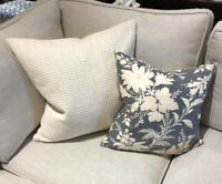 Pottery Barn Honeycomb Pillow Cover Ivory 18 sq Throw Sofa Accent Neutral New