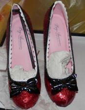 Leg Avenue Sz 7 High Heels Ruby Slippers Red Glitter  Sexy Dorothy wizard of oz