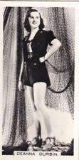 "DEANNA  DURBIN - carreras HOLLYWOOD ""film stars"" PIN-UP/CHEESECAKE 1938 cig card"