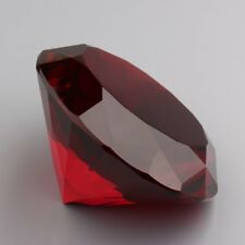 Big 60mm Crystal Red Paperweight Cut Glass Large Giant Diamond Jewelry Display